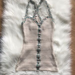 Free people knit button down adjustable tank